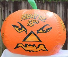 Friday the 13th New Blood Horror Flick Movie Room Advertisement Blow Up Pumpkin