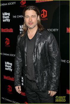 Brad pitt in leather jacket #leather #jacket #outfit