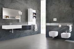 Magnetika bathroom. Apply a metal bar or panel to the wall and place your accessories to make your bathroom more functional and comfortable.  #magnetic #furniture #bagno #bathroom #RondaDesign