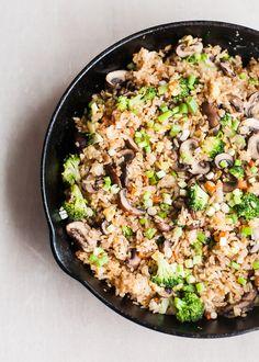 broccoli mushroom vegetable fried rice