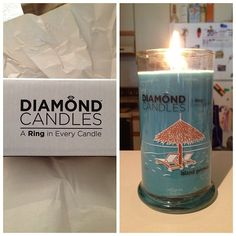 I am so excited for this! The candle smells amazing! My girlfriend is so thoughtful! What a great #birthday gift @Amanda Snelson Dole #diamondcandles @diamond Candles