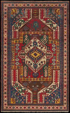 Tribal Antique Persian Rug from Caucasian Rug Group Dark Carpet, Modern Carpet, Persian Carpet, Persian Rug, Turkish Rugs, Asian Rugs, Persian Pattern, Rug Company, Living Room Carpet