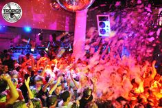 Foam Party at Tropics, Lloret de Mar.