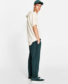 JOIN LIFE WIDE-LEG STRAIGHT FIT TROUSERS