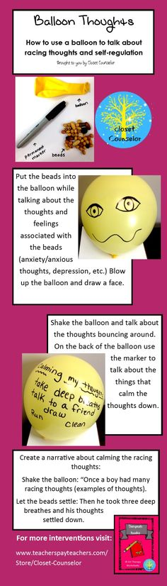 Balloon Thoughts: an activity to talk about anxious thoughts and coping skills that is fun and interactive
