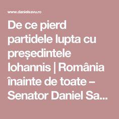 De ce pierd partidele lupta cu președintele Iohannis | România înainte de toate – Senator Daniel Savu, Partidul România Unită