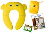 #5: Learning Curve- Newest Design- portable folding toddler potty training seat cover- non-slip-reusable toilet training seat w/carry bag- pkg. of disposable toilet seat covers-kids-babies-Free ebook #ToiletTraining
