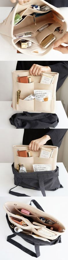 【Only US$19.65】It's a super cool and functional bag organizer,with 8 pockets outside and 9 extra pockets inside.Do you think it's a good choice for travelling or shopping?I think so