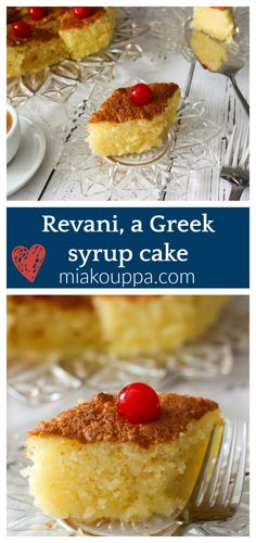 Revani with coconut (Ρεβανί (ή Ραβανί) με ινδοκάρυδο). This simple to make Greek dessert recipe will definitely satisfy your sweet tooth. #desserts #revani #ravani #greekdesserts #greekbaking #greekcakes Greek Sweets, Greek Desserts, Greek Recipes, Greek Meals, Healthy Dessert Recipes, Cake Recipes, Greek Cake, Custard Desserts, Walnut Cake