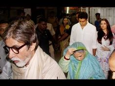 The Bachchan family headed to Siddhivinayak Temple to seek blessings of Lord Ganesha. Watch exclusive video of Amitabh Bachchan, Jaya Bachchan, Aishwarya Rai Bachchan and Abhishek Bachchan at the iconic Mumbai shrine.    For the latest events, news and updates in Bollywood,  log on and subscribe to http://www.YouTube.com/Live9Tv
