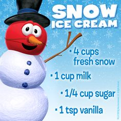 How to Make Snow Ice Cream: Perfect activity to do with your kiddos next time it snows, why not just make make snow Ice Cream!