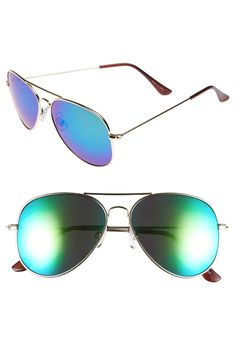 Absolutely loving the retro appeal of these blue and purple mirrored aviator…