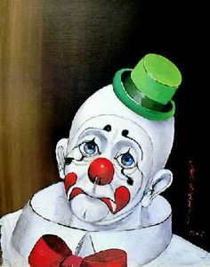 Browse sad clown pictures, photos, images, GIFs, and videos on Photobucket Red Skelton Paintings, Clown Images, Clown Pics, Pierrot Clown, Clown Paintings, Hi Boy, Vintage Clown, Send In The Clowns, Clowning Around