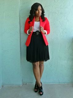 Adore this outfit from: Curves and Confidence Black Fashion Bloggers, Fashion Blogger Style, Curvy Girl Fashion, Black Women Fashion, Work Fashion, Plus Size Fashion, Fashion Outfits, Womens Fashion, Miami Fashion