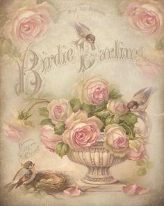 Shabby chic printables free birds 56 new Ideas Decoupage Vintage, Vintage Diy, Vintage Labels, Vintage Ephemera, Vintage Cards, Vintage Flowers, Vintage Paper, Vintage Postcards, Vintage Floral
