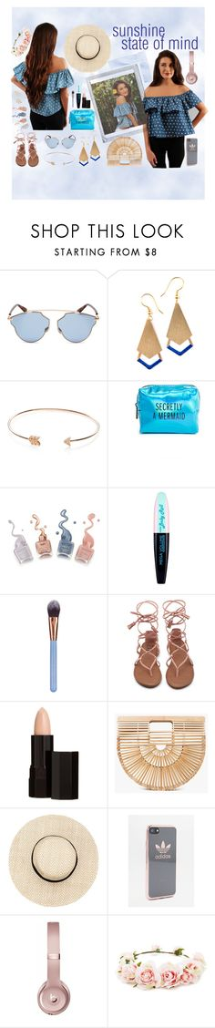 """""""sunshine state of mind"""" by poshatplay on Polyvore featuring Polaroid, Christian Dior, EF Collection, Pinch Provisions, L'Oréal Paris, Luxie, Serge Lutens, Cult Gaia, adidas and Beats by Dr. Dre"""