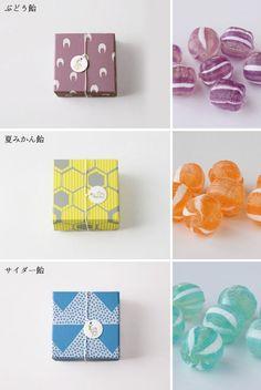 Simply beautiful Japanese packaging for sugar candy Candy Packaging, Cool Packaging, Tea Packaging, Food Packaging Design, Packaging Design Inspiration, Branding Design, Chocolate Packaging, Product Packaging, Box Design