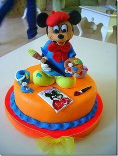 Mickey pintor