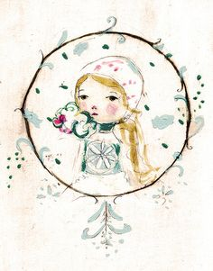 Magda by Paola Zakimi (Holli on etsy): love this sweet gal, the colors and Pola's soft touch