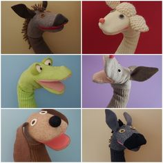 Animal Hand Puppets, Sock Puppets, Finger Puppets, Puppet Crafts, Sock Crafts, Horse Crafts, Puppets For Kids, Puppet Patterns, Sock Toys