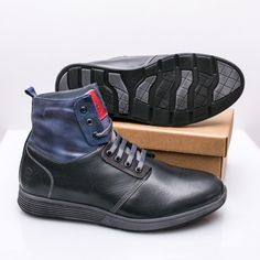Ghete barbati Piele naturala imblanite negre Kamiil High Tops, High Top Sneakers, Casual, Shoes, Fashion, Moda, Zapatos, Shoes Outlet, Fashion Styles