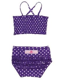 Baby Girl Bikini – Purple Polka Dot Swim Suit « Clothing Impulse