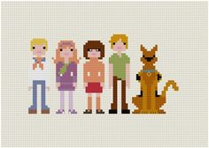 Pixel People - Scooby Doo, Where Are You - PDF Cross Stitch PATTERN. $6.00, via Etsy.