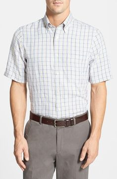 Men's Nordstrom Regular Fit Short Sleeve Linen Shirt