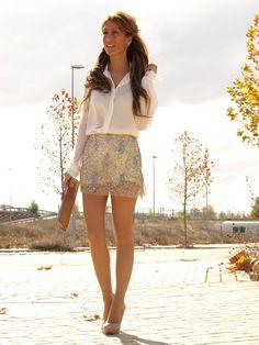 shirt/sequin skirt