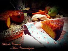 Receita Sobremesa : Bolo de cenoura e maça caramelizada de CozinhaAromatica