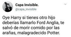 """Ford Anglia Potter, tienes el nombre de aquel auto volador que me salvó de las arañas gigantes""  #ihappyshop"