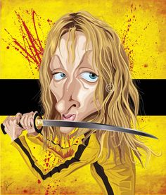 """""""Kill Bill"""" by Graphicurry #caricature"""
