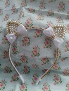 The world's catalog of creative ideas Cat Ears Headband, Diy Headband, Ear Headbands, Diy Bow, Diy Ribbon, Diy Hair Accessories, How To Make Bows, Diy Hairstyles, Hair Clips