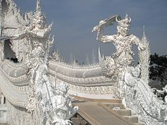 All white  temple in Chiang Mai.