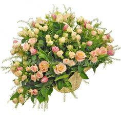 Корзина из цветов «Весенний день»