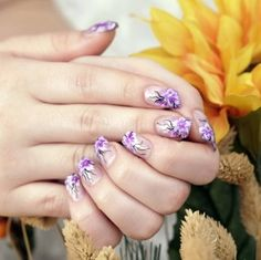 Floral Nail Art very pretty and springy