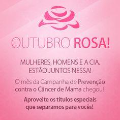 A Mensagem está dada!   O Brasil todo está engajado nessa e a Cia. dos Livros, é claro, não ficou fora!   Todos na Luta contra o Câncer de Mama!  Saiba quais são os títulos que falam sobre o assunto, incluindo dicas de prevenção.  http://s55.me/Rfmy1wc