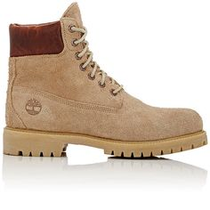 "Timberland Men's BNY Sole Series: ""6-Inch\"" Boots ($220) ❤ liked on Polyvore featuring men's fashion, men's shoes, men's boots, men's work boots, men, shoes, boots, tan, mens tan boots and mens lace up boots"