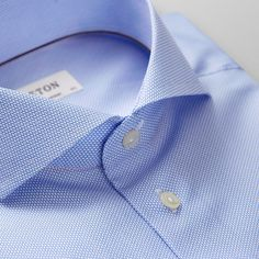 Navy Braided Print Shirt - Contemporary fit | Eton Shirts US