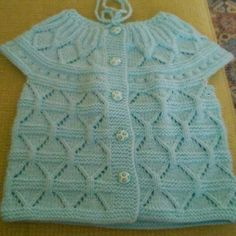 kesme-elmas-orgu-modelli-bebek-yelek See other ideas and pictures from the category menu…. Baby Cardigan Knitting Pattern, Baby Knitting Patterns, Knitting Designs, Knitting Socks, Baby Patterns, Crochet Cardigan, Baby Shop Online, Knitted Baby Blankets, Baby Socks