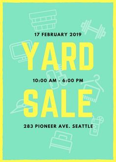 Freeestatesaleflyerpinkemptypng Google Drive Free Yard - Estate sale ad template