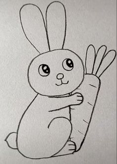 Rabbit Drawing Easy drawings Rabbit Drawing Easy easter drawings for kids coloring pages Easy Animal Drawings, Easter Drawings, Easy Drawings For Kids, Cool Art Drawings, Pencil Art Drawings, Art Drawings Sketches, Bird Drawings, Drawing Ideas Kids, Easy Sketches