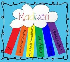 {All About Me Rainbow} First Day of School Activity