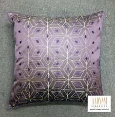 100% silk cushion cover made from handwoven brocade fabric. DECO