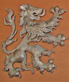 Scottish Fighting Lion right by Worthington Forge on Etsy