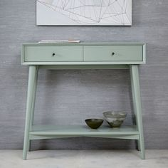 Mid-Century Mini Console - Oregano - put in the entry way under the mirror instead of doing the hooks 60s Furniture, Entry Furniture, Furniture Making, Living Room Furniture, Furniture Ideas, Rustic Console Tables, Entryway Tables, Mid Century Console, Muebles Art Deco
