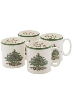 Spode Dinnerware, Set of 4 Christmas Tree Mugs. Spode Dinnerware, Set of 4 Christmas Tree Mugs Home - Dining & Entertaining Tableware - Fine China. Price: $124.00