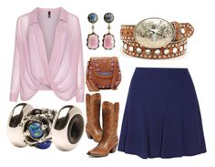 """""""Pinc/blu"""" by sharon-griffith ❤ liked on Polyvore featuring Ariat, Manon Baptiste, Sandro, Trollbeads and Isabella Fiore"""