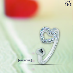 This Silver ring represents charm in a unique way. Ideal to wear on any occasion, this ring is must in your collection. Order now and get it delivered at your doorstep from plushvie. Shop Jewellery on EMI and pay at ease . Jewelry Shop, Fine Jewelry, Jewellery, Sterling Silver Thumb Rings, Gold Pendant, Heart Ring, Silver Jewelry, Unique, Collection