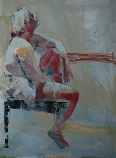 seated figure no. 5 by Mark Horst, via Flickr. Oil on panel